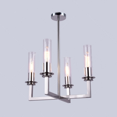 Siver/Gold Multi Light Tube LED Chandeliers High Brighteness 4/6/8 Head Linear Hanging Fixture in Luxury Style for Lving Room Restaurant