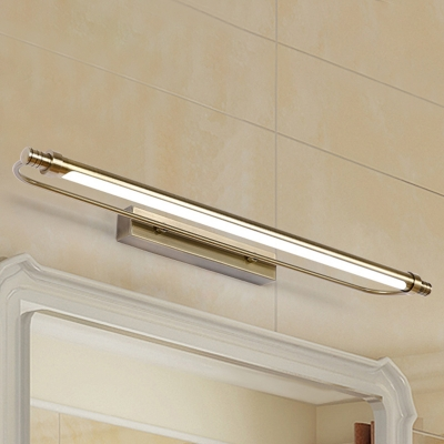Best Lighting for Bathroom Dressing Room Mirror Waterproof Antifogging LED Tube Vanity Light 6/8/11W Antique Brass Wall Lighting with Acrylic Shade