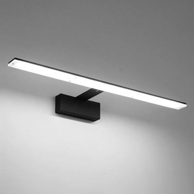 Contemporary Lighting 1 Light Black White Led Linear Vanity Light Modern Bathroom Makeup Mirror