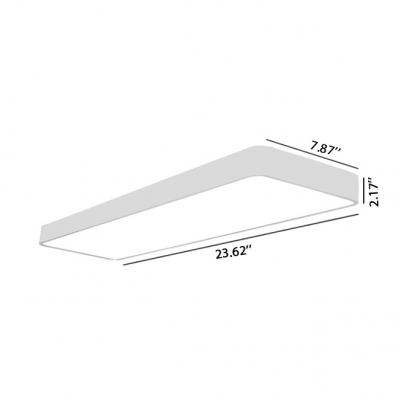 Garage Workshop Office LED Linear Fixture White Aluminum 20W-40W 7.87