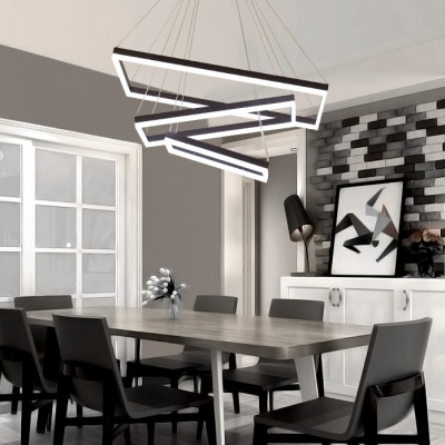Extra Large Led Chandelier Brown Finish