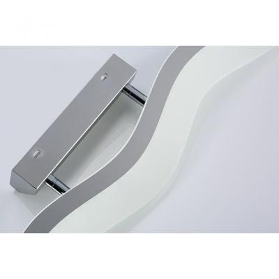 Modern Frosted Acrylic LED Vanity Light 16.93/22.83 Inch Long 16/24W 3000/4000/6000K Wave Led Vanity Lighting in Chrome
