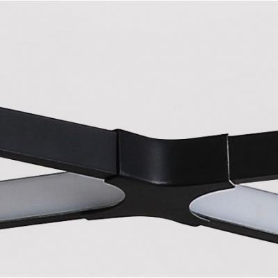 Super Thin Long Chandeliers White/Black 5 Light Metal Linear Pendant Light 31-40W 45.28