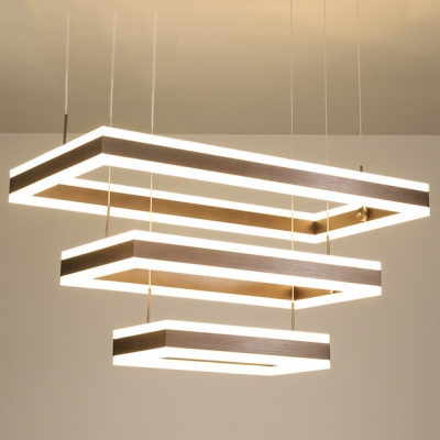 Contemporary LED Linear Chandelier 15.75