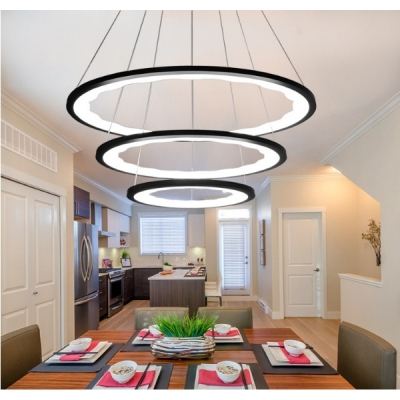 Black Modern Chandelier Light 63 113w