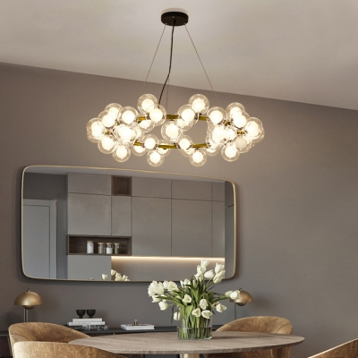 Creative Lighting Orb Clear Bubbles Chandelier 24.41