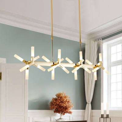 Novelty Home Decoration LED Frosted Linear Chandelier 18 Light/24