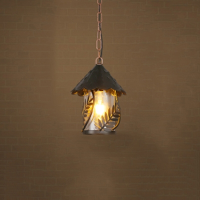Single Light Source Ceiling Pendant for Restaurant Cafe with Cone Shade, Black, HL486999