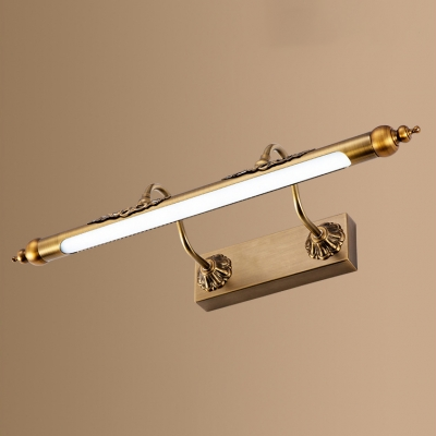 Traditional Design Aged Brass Linear LED Vanity Lights 8/10/12W Warm White Neutral Waterproof Dampproof Best Lighting for Bathroom Study Room Bedside