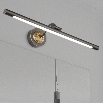 Reversible Black/Gold LED Tube Vanity Light 8/11/15W LED Neutral Adjustable Light Delicate Long LED Linear Lights for Bathroom Mirror