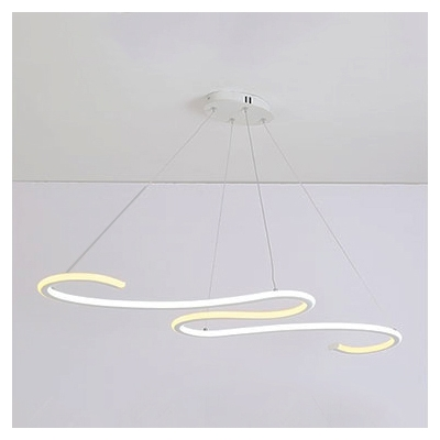 Second Gear LED Warm White S Shaped LED Chandelier 40.18