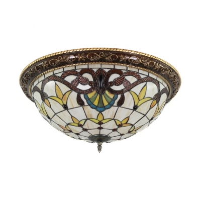 best service a6cd0 4bfc9 Splendid Tiffany Flush Mount Ceiling Light with Tulip Pattern Glass