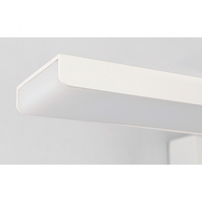16/24/32W Neutral White 4000K Bath Vanity Light Satin White Acrylic Shade LED Rectangle Vanity Lighting 16.14in/24.05in/31.89in Long Line Vanity