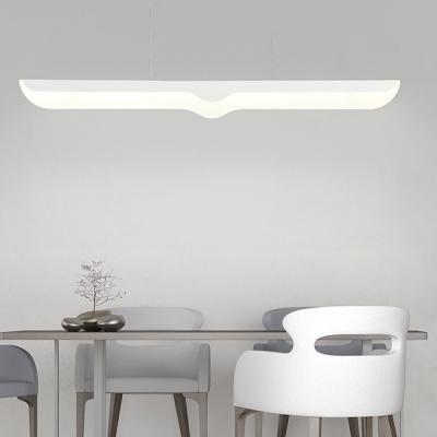 31 50 Inch Long White Acrylic Led Linear Pendant Light 16w Energy