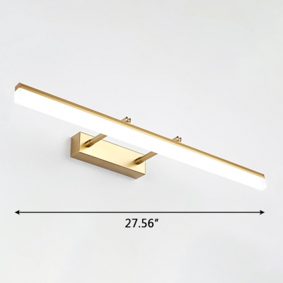 Extension Type 1 Light Led Linear Picture Light 9W-20W LED Warm White Gold Finish Acrylic Vanity Light for Bathroom Gallery Art Work
