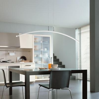 LED Warm White Stepless Adjusted LED Linear Pendant Light ...