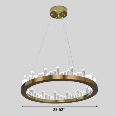 Ultra Modern LED Crystal Ring Pendant 15.75