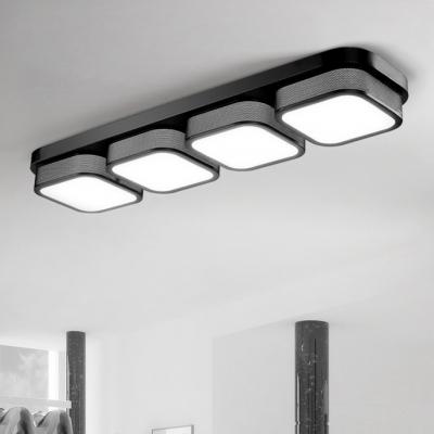 Modern Indoor Lighting 1 2 3 4 Light Square Led Ceiling Flush