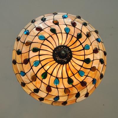Tiffany Style Three Light Bowl Shaped 16