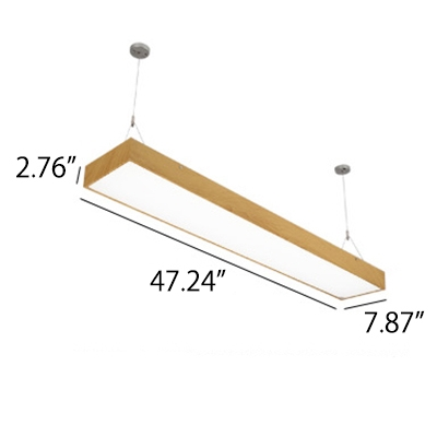 Seamless Connection Height Adjustable Multi Color Aluminum 36/54W Rectangular Pendant Light for Workbench Kitchen Hallway 6 Colors for Option