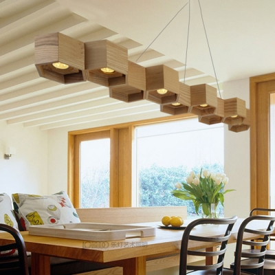 Contemporary LED Long Chandelier 27.56