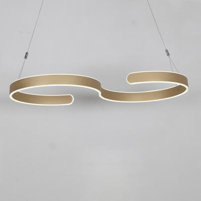 Simple Curved LED Pendant 23.62