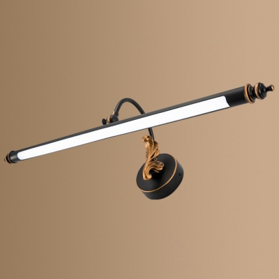 American Country Style Delicate Bath Shower Vanity Light 7/10/13W LED Black Tube LED Picture Light in Acrylic Shade 3 Sizes Available