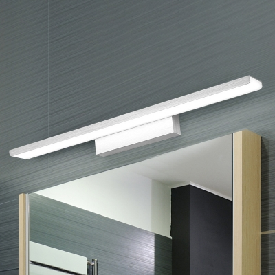 Brushed Aluminum LED Rectangular Vanity Light 16.15