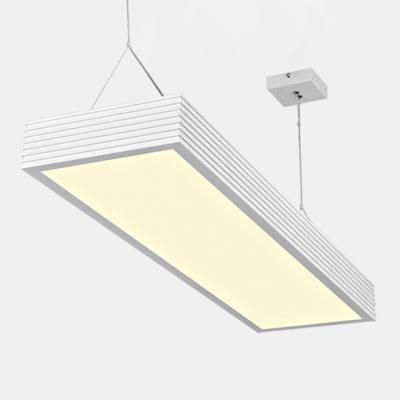 Modern Ceiling Light White Striped LED Hanging Light 47.24