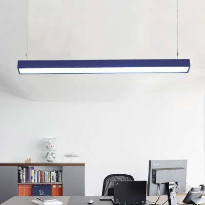 Seamless Connection Commerical Office Lighting 47.24 Inch Long Ultra Thin LED Linear Pendant Light 18W Cold White Light for Garage Workbench Clothes Stores