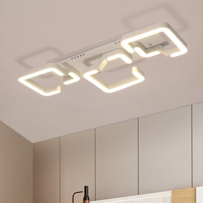 Modern Simple Style Dining Room Kitchen Bedroom Geometric Led Ceiling Lights 9w 36w 1 2 3 4 Lights White Finish Ceiling Fixture Beautifulhalo Com