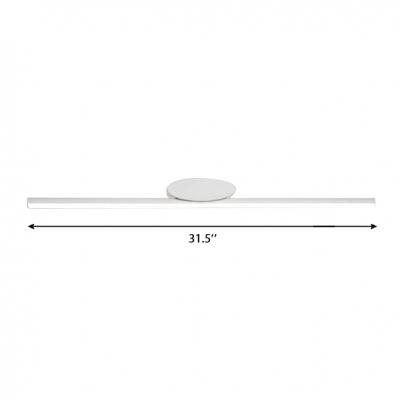 Slim Vanity Light White Aluminum 8W-20W 3000/4000/5000K LED Bathroom Makeup Mirror Linear Vanity Lighting