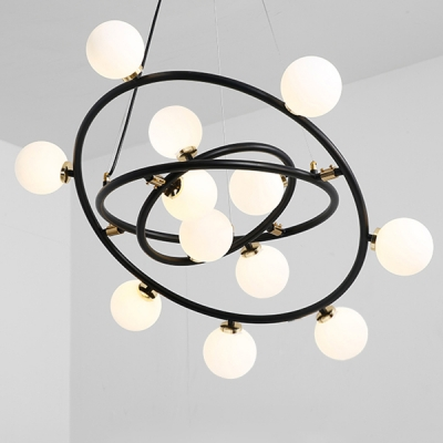 Unique Living Room Bedroom Pendant Light 9/12/15 Light Round Rotating Chandeliers 30.31