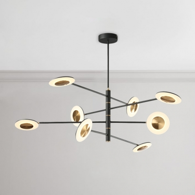 Post Modern Black Metal Light Fixture 4
