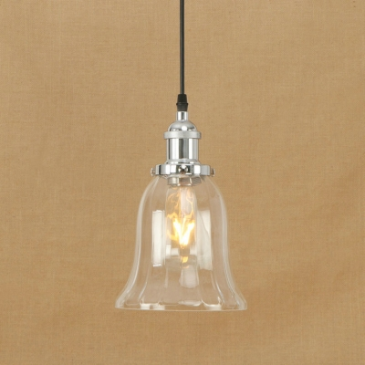 Industrial Simple Mini Pendant 1 Light Led With Bell Shape