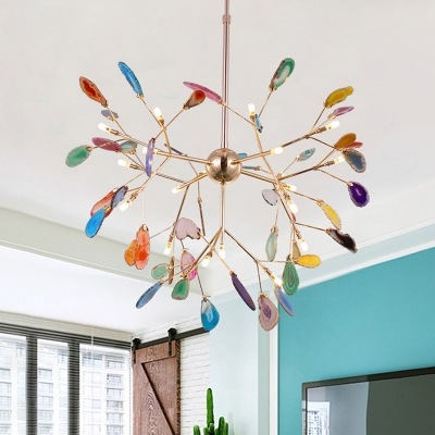 Novelty Colorful Chandelier 12 48 60w 4 16 20 Agate Firefly Led