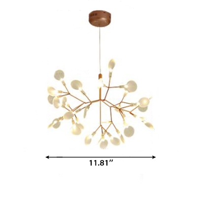 Post Modern Nordic Home Decoration LED Heracleum Chandeliers in Rose Gold 9/15/20W 30/45/63 Light Firefly LED Lights for Living Room Bedroom