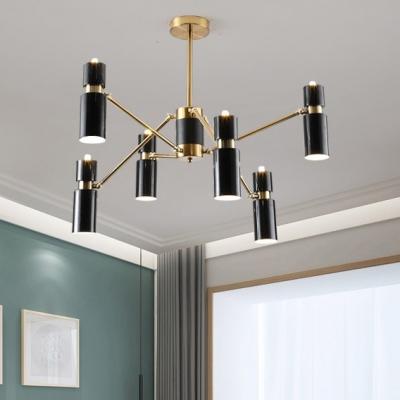 Best Lighting for Living Room Bedroom Nordic Style Cylinder LED Chandelier 23.5