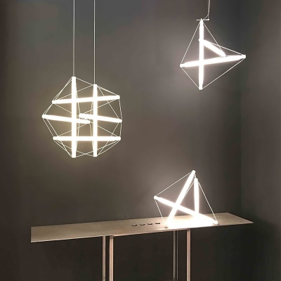 Led Geometric Hanging Lights