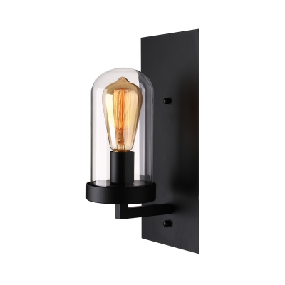 Cylinder Shade 1 Light Wall Sconce in Black 14