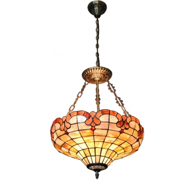 Flower Basket Shaped Inverted Hanging Light Fixture 15.75