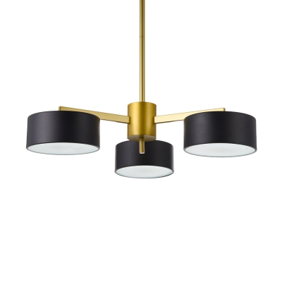 Black And Gold Chandelier Post Modern 3 Light 6 Light Led