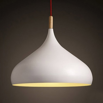 Nordic Dome Pendant Light in White for Dining Room Kitchen Island Restaurant