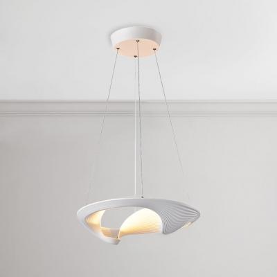 Ultra Modern Designers Lighting White Aluminum Vortex Led Pendant Light 20w 20 Wide Art Deco Chandelier For Bedroom Gallery Office Beautifulhalo Com