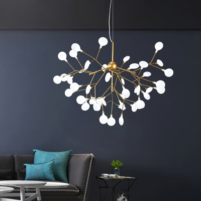Home Decoration Height Adjustable Heracleum II LED Chandelier 9/27/36/45/54 Light High Output Hanging Lights for Living Room Restaurant Cafe