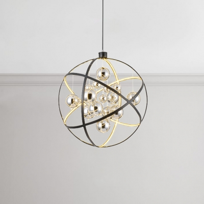 19 5 31 Wide Metal Globe Pendant Light 50 80w Led Warm White