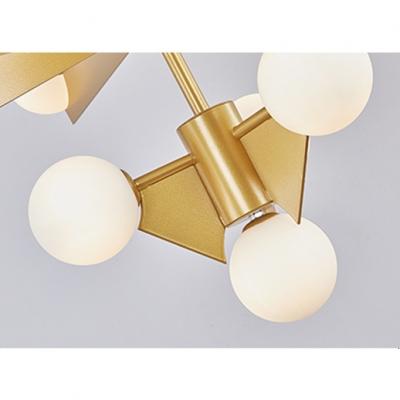 Post Modern Designers Lighting Brass LED Chandelier 10/18 Light Frosted Glass Ball Chandelier for Living Room