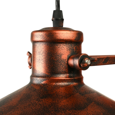 Antique Copper 1 Lt Wall Sconce with Cage in Nautical Industrial Style for Barn Balcony Porch