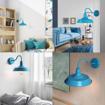 Elegant Blue Barn Style Wall Lighting