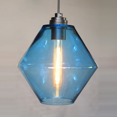 Green/Orange/Blue Industrial Colored LOFT Glass Pendant Light